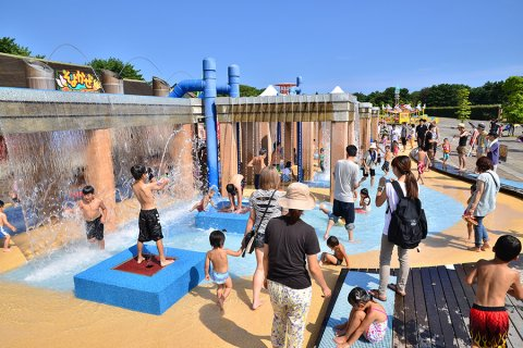 要出典 じゃぶじゃぶ池 国営ひたち海浜公園 水遊び広場 茨城県ひたちなか市
