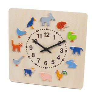 要出典 子ども部屋時計 ヘラー社 時計 ヤーン動物