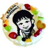 要出典 似顔絵ケーキ モカボーネン 似顔絵ケーキ 5号