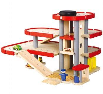 要出典 木のおもちゃプラントイ PlanCityパーキングガレージ