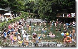 要出典 川遊び 多度川 多度峡天然プール 三重県桑名市