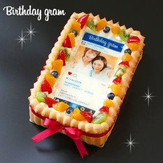 要出典 写真ケーキ ケーキエクスプレス インスタグラム風フレーム写真ケーキ