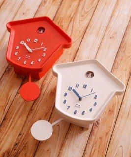 要出典 子供部屋 時計 ブルーノ クックーハウス振り子クロック 時計 壁掛け時計