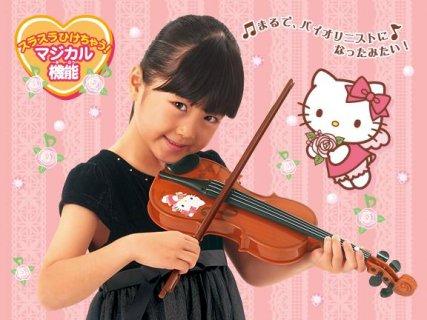 要出典 楽器のおもちゃ パイロットインキ ハローキティ ひけちゃうバイオリン