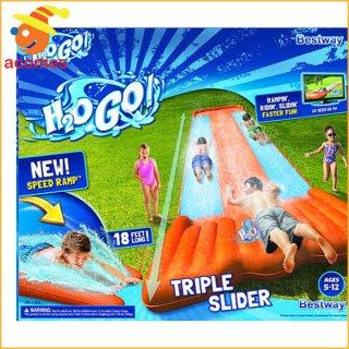 要出典 水遊び おもちゃ 水遊び 子供 トリプル ウォーター スライダー