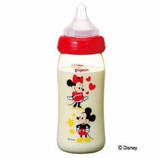 要出典 ピジョン 哺乳瓶 母乳実感 哺乳瓶 プラスチック製 ミッキー柄 240ml