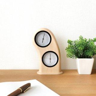 要出典 温湿度計 旭川家具 ササキ工芸 スマイル温湿時計