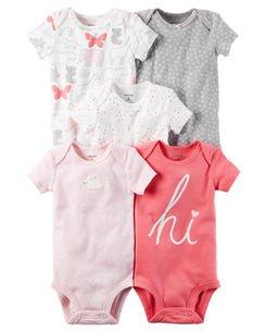 要出典 赤ちゃん用肌着 カーターズ 半袖5枚組ロンパ―ス