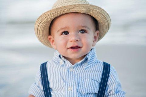 1歳 男の子 赤ちゃん 麦わら帽子 帽子 海