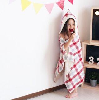 【要出典】 出産祝いでもらって嬉しかったもの コンテックス ブロックチェック赤 今治タオル 出産祝い