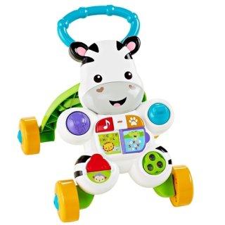 要出典 0歳~1歳の知育玩具 マテル フィッシャープライス おして! しまうまくんのバイリンガル・ウォーカー