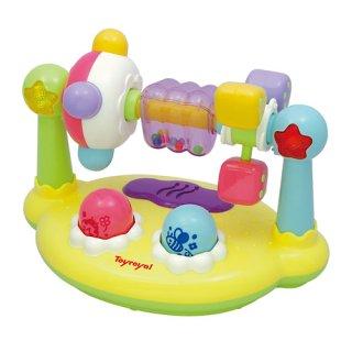 要出典 0歳~1歳の知育玩具 ローヤル まわしてクルクルサウンド