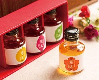 要出典 出産祝いのお返し 石神邑 梅酒 邑人4種類 ミニボトルセット