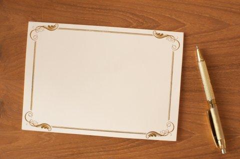 メッセージカード 手紙 ペン