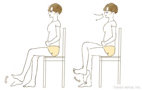 妊婦体操 足首の運動 eversense
