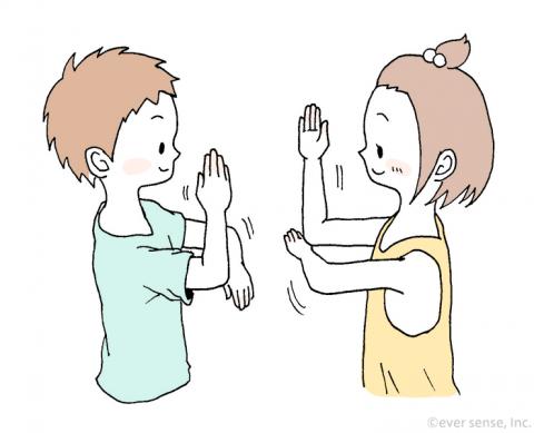 5歳児の手遊び アルプス一万尺7 eversense