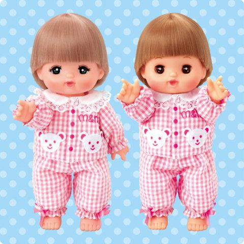 要出典 メルちゃん人形 パイロットインキ メルちゃん チェックのパジャマ