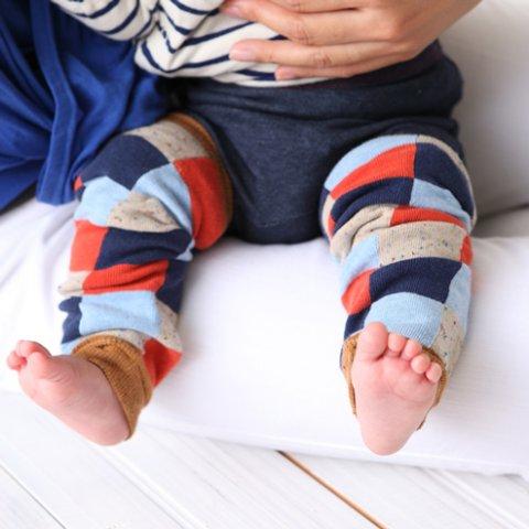 要出典 赤ちゃん用レッグウォーマー 靴下屋 ベビー カラフルブロックレッグウォーマー