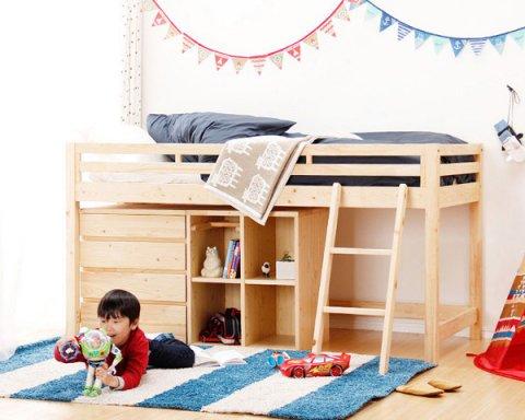 要出典 子供用ベッド 家具の里 国産ひのきベッド はしごタイプ