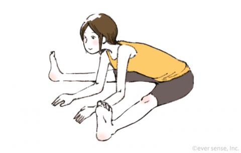 妊娠後期 ヨガ開脚(前屈)のポーズeversense