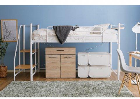 要出典 子供用ベッド ロウヤ ロフトベッド 階段 ロータイプ