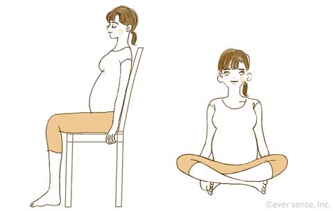 妊婦 座り姿勢 eversense