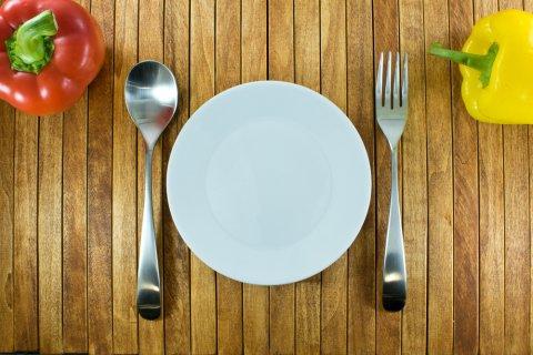 皿 プレート フォーク スプーン 食事 野菜