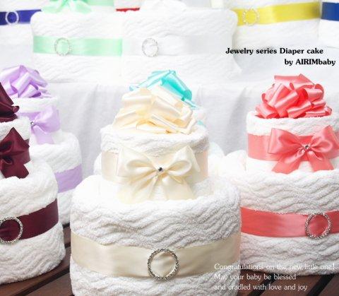 要出典 出産祝い おしゃれ お祝い 今治バスタオル 出産祝いギフト ジュエリーおむつケーキ
