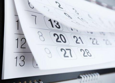 カレンダー スケジュール 期間 日程