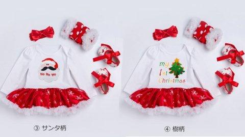 要出典 キッズ サンタクロース クリスマス 衣装 キッズサンタクロース ガール 3点セット