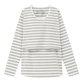要出典 無印良品 マタニティライン オーガニックコットン混天竺授乳に便利な長袖Tシャツ