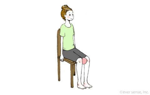 骨盤底筋体操 座ったまま引き締める eversense