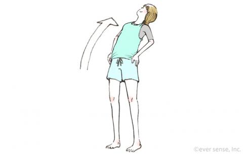 骨盤体操 上体を後ろにそらす体操 eversense