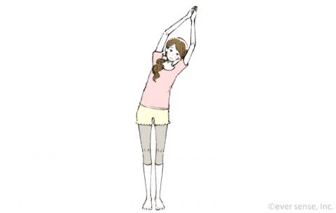 産後ヨガ 三日月のポーズ eversense