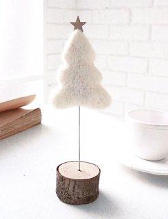 要出典 クリスマス 置物 クリスマス 置物 フェルト クリスマスツリー ホワイト