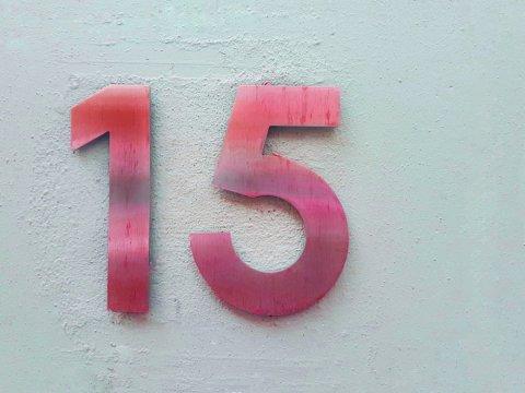 15 数字 ナンバー