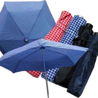 要出典 子供 折りたたみ傘 キッズ ギンガムチェック軽量折りたたみ傘