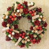 要出典 クリスマス スワッグ リース おすすめクリスマス 白樺のリース ハンガー付
