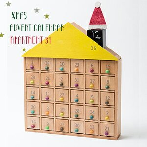 木製アドベントカレンダー ジジ アパートメント 31