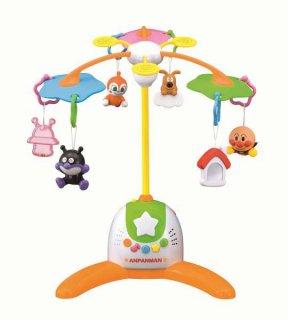 要出典 ベッドメリー 赤ちゃん 人気 おすすめ アガツマ 赤ちゃん泣きやませサウンド付き アンパンマンメリー