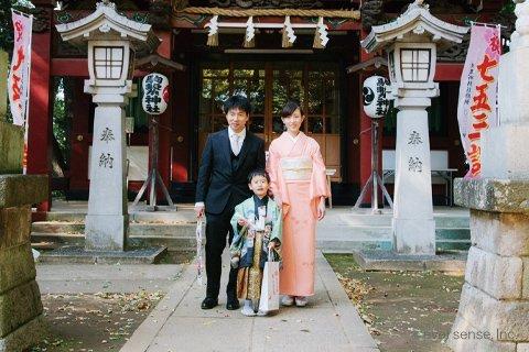eversense 七五三 5歳 男の子 家族 神社