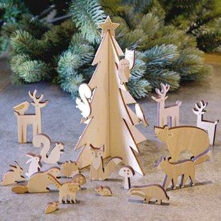 要出典 アドベントカレンダー MeriMeri 木製アドベントカレンダー 森のクリスマス