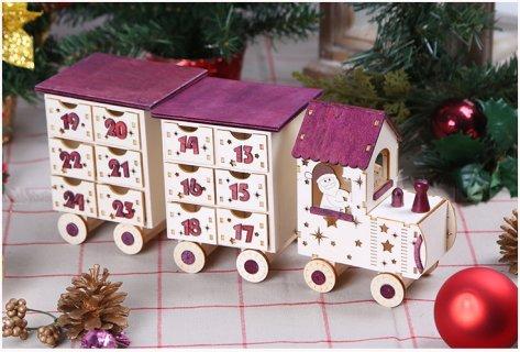 要出典 アドベントカレンダー アドベントカレンダー サンタ 汽車 クリスマス