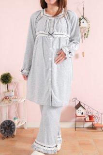 要出典 出産入院 パジャマ 妊婦 授乳用前開きパジャマ 長袖