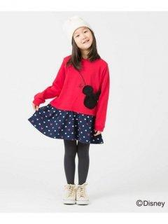 要出典 ディズニー 子供服 ミッキーマウス フェイスシルエットポシェットワンピース(ディズニー)