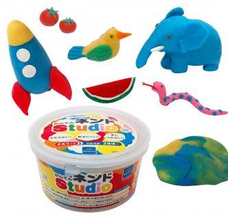 要出典 2歳 3歳 4歳 5歳 知育玩具 ボーネルンド かんてんネンドStudio 4色セット