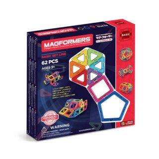 要出典 2歳 3歳 4歳 5歳 知育玩具 ボーネルンド マグ・フォーマー ベーシックセット62ピース