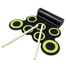 要出典 小学生 男の子 プレゼント Rockpals折畳電子ドラム マルチ伴奏機能 練習用ドラム