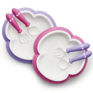 要出典 双子 出産祝い ベビービョルン) ベビープレート&スプーン&フォーク 2セット