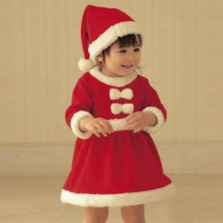 要出典 クリスマス 衣装 サンタ ワンピース 女の子用 クリスマス コスチューム